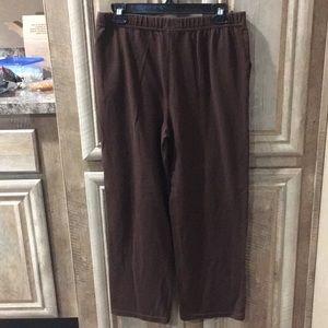 Beautiful Brown Color Petite Pants With Elastic